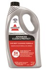 BISSELL Advanced Clean and Protect carpet cleaning formula gives professional carpet cleaning results, with StainProtect.