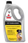 BISSELL Pet Stain and Odor carpet cleaning formula removes stains and odors, deters remarking.