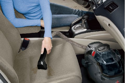 BISSELL Rental lets you treat your car's carpet and upholstery to the same deep clean as your home without adding a trip to the car wash.