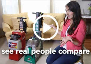 See real people compare the BISSELL Rental Big Green deep cleaning machine vs. the Rug Doctor rental carpet cleaning machine!