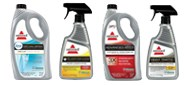 BISSELL Rental participating retailers offer a wide variety of carpet cleaning formulas to use with the Big Green Deep Carpet Cleaner.